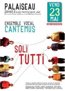 Affiche cantemus concert palaiseau 2014