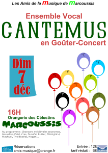 Gouter concert Marcoussis Cantemus