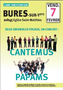 Affiche concert Cantemus Bures 2014